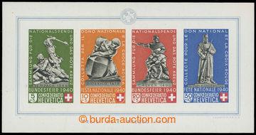 211300 - 1940 Mi.Bl.5, Pro Patria; oblíbený aršík, luxusní; kat. 400€