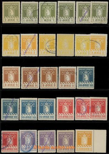 211310 - 1905-1937 GRÓNSKO / BALÍKOVÉ ZNÁMKY  velmi zajímavá sestava