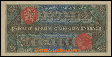211311 - 1922 Ba.19b, 50Kč Rozsévač, série 052, číslo 145960; pouze n