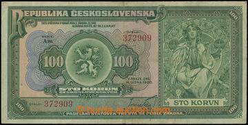211312 - 1920 Ba.16b, 100Kč, série Am; bez natržení