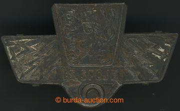 211369 - 1930 POŠTA / čepicový odznak zaměstnanců pošty, státní znak