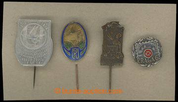 211374 - 1913-1962 POŠTA / sestava 4ks odznaků poštovních zaměstnanců