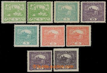 211384 -  Pof.3E, 4E, 11E, 4F-11F, sestava 9ks zn. mimo 7E všechny h