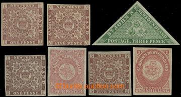 211393 - 1857-1864 SG.1,5,11,16, 18, 19, 23; Heraldické znaky 1P-1Sh