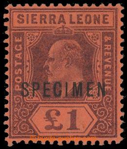 211397 - 1903 SG.85s, Edvard VII. £1 SPECIMEN; bezvadný kus, kat