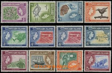 211453 - 1957-1963 SG.18-28, Alžběta II. - Motivy 1/2d-2/6Sh; po nále