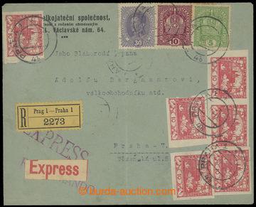 211486 - 1919 firemní R+Ex dopis vyrf. smíšenou frankaturou rakous