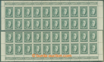 211497 - 1930 Pof.261, 80. birthday T. G. Masaryk 2CZK, upper and low