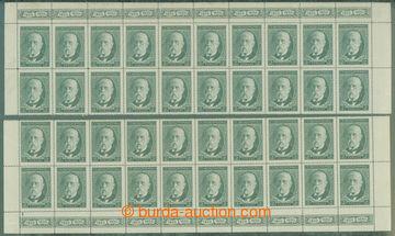 211497 - 1930 Pof.261, 80. narozeniny TGM 2Kč, horní a dolní 20-p�