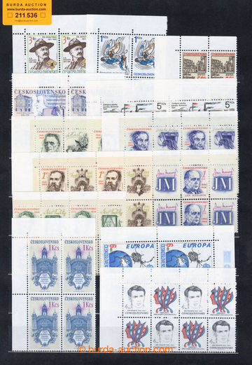 211536 - 1991 Pof.2966-3000, year/volume 1991 in blocks of four, all