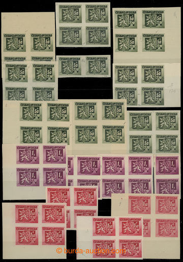 211547 - 1945 Pof.363-371, Bratislava-issue, selection of 30 pcs of b