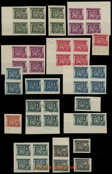 211548 - 1945 Pof.363-367, 369, 371, Bratislavské vydání, sestava