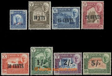 211551 - 1951 SG.20-27, overprint Sultan Shihr 5C/1A - 5Sh/5R; comple