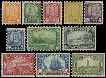 211554 - 1928 SG.275-285, Jiří V. - Portrét a Krajinky 1C - $1; ko