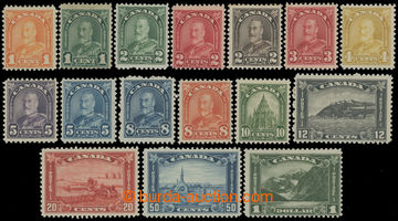 211555 - 1930-1931 SG.288-303, Jiří V. 1C - $1, zoubkování 11; ko