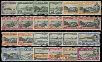 211579 - 1938-1953 SG.38-47, Jiří VI. - Motivy ½P - 10Sh, nominál