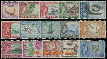 211604 - 1956-1963 SG.82-96, Alžběta II. Motivy ?P - ?1; kompletní sé