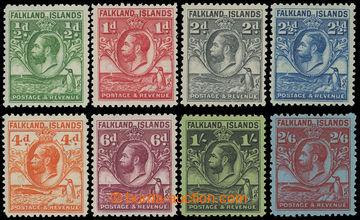 211624 - 1929-1937 SG.116-123, Jiří V. Penguins ?P - 2Sh6P; sestava 8