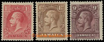 211627 - 1929-1932 SG.108-110, Jiří V. 1P - 9P; kompletní série