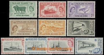 211652 - 1955-1964 SG.187-192, 215-218, Elizabeth II. Motives, two co