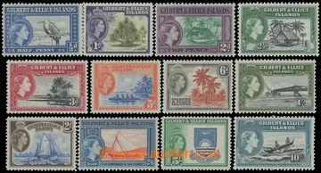 211739 - 1956-1962 SG.64-75, Alžběta II. - Motivy ?d-10Sh, kompletní
