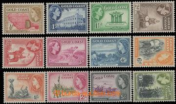 211741 - 1952-1954 SG.153-164, Elizabeth II. - Motives ½d-10Sh; comp