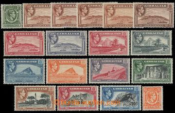 211748 - 1938-1951 SG.121-131, George VI. ½P-£1; complete set, 5x v