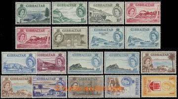 211749 - 1953-1959 SG.145-158, Alžběta II. ½d - £1; kompletní s�