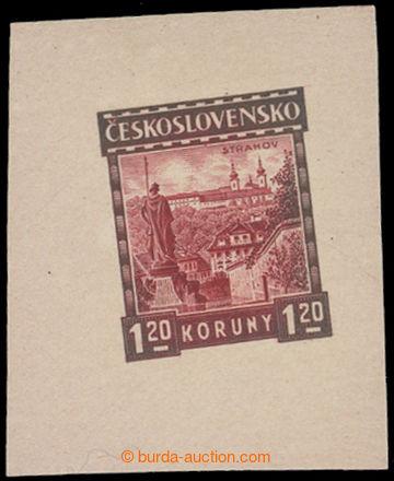 211864 - 1926 ZT  Pof.213, Strahov 1,20Kč, zkusmý tisk - otisk defi