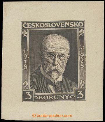 211901 - 1928 ZT  Pof.234, Masaryk 3Kč, zkusmý tisk - otisk definit