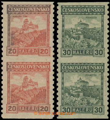 211919 - 1926 Pof.209A P8, 210A P7, Castles 20h and 30h coil- issue,