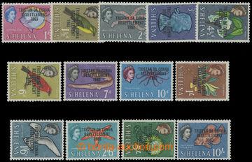 211968 - 1963 SG.55-67, přetiskové Sv. Helena - Alžběta II. 1d-10