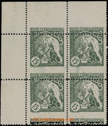 211997 -  Pof.27B VV, Lev trhající okovy 15h zelená, levý horní