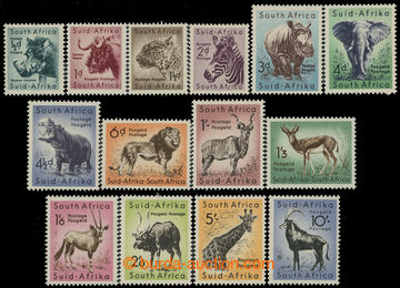 212035 - 1954 SG.151-164, Animals ½d-10Sh, complete set; hinged