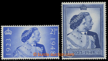 212043 - 1948 SG.493-494, Silver Jubilee 2½d and £1, comple