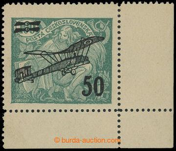 212049 -  Pof.L4 DV, II. letecké provizorium 50/100h zelená, pravý do