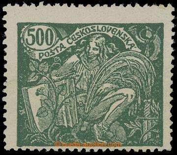 212053 -  Pof.168B, 500h zelená, HZ 13¾ : 13½; lehký ohyb, svěž