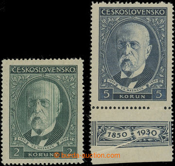 212101 - 1930 Pof.262, 263 VV, emise 80. narozeniny TGM, hodnota 2Kč