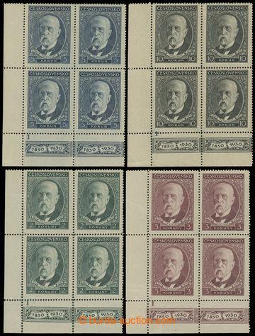 212102 - 1930 Pof.262-264, 80. narozeniny TGM, kompletní řada levý