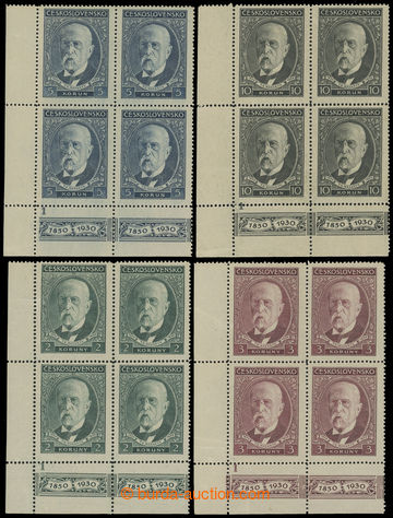 212102 - 1930 Pof.262-264, 80. birthday T. G. Masaryk, complete set L