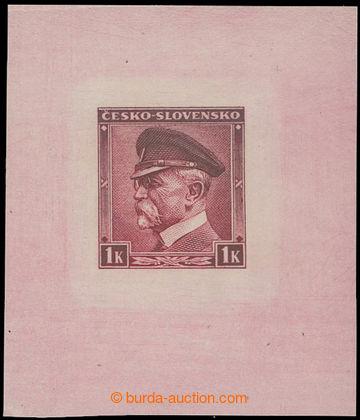 212176 - 1939 ZT  hodnoty Masaryk 1K nápis ČESKO-SLOVENSKO, Pof.352