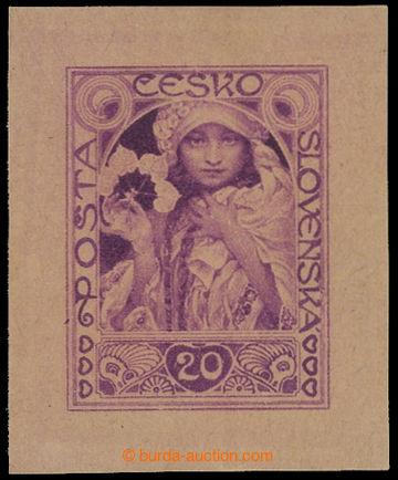 212182 -  ZT  MUCHA Alfons (1860-1939), zkusmý tisk nepřijatého návrh