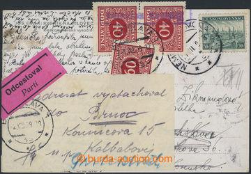 212246 - 1939 DOPLATNÉ /  nedostatečně vyplacená pohlednice adresovan