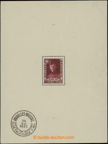 212283 - 1931 Mi.Bl.2, aršík Filatelistická výstava v Bruselu s obvyk