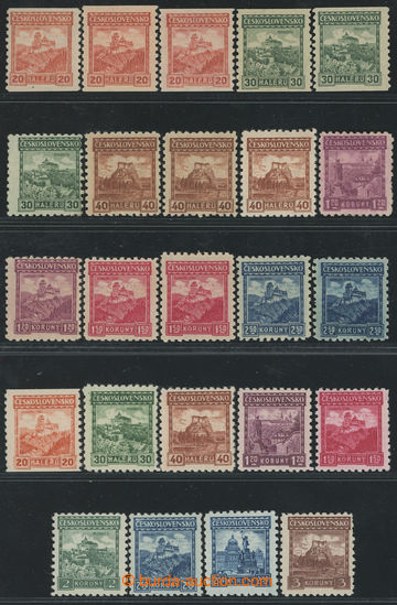 212366 - 1926 Pof.209-215, Castles, comp. of 15 stamp. stamps all val