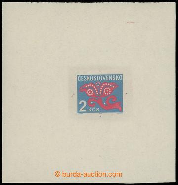 212386 - 1971 ZT  Pof.D99, Květy 2Kčs, zkusmý tisk - otisk definit