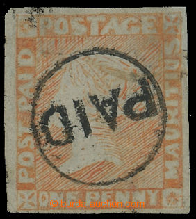 212405 - 1848-1859 SG.11, POST PAID ONE PENNY RED - dull vermilion po
