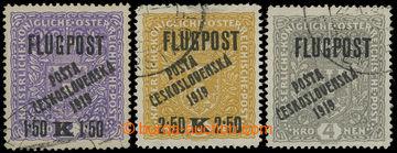 212540 -  Pof.52-54, Letecké FLUGPOST, kompletní série, vše II. typ p