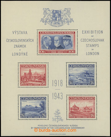 212553 - 1943 AS1, Londýnský aršík, vlevo část rozměřovacího