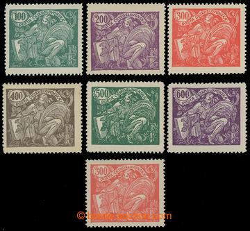 212556 -  Pof.164A-169A, 100h-600h, kompletní řada + Pof.166B, 300h